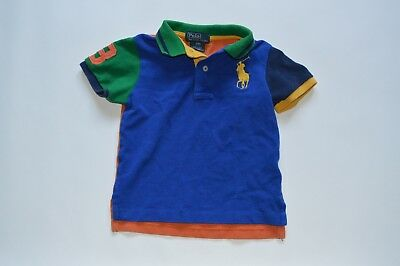 Polo Ralph Lauren boys 24 months Polo shirt Blue Yellow Big Pony color block