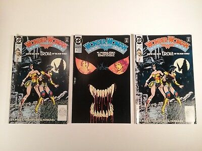 Wonder Woman #48 and ~Two Copies~ of Wonder Woman #47 (1990, DC Comics)