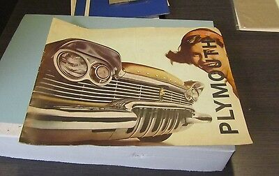 1960 Plymouth Automobile Brochure Oversized Belvedere Savoy Plaza Suburban 12pg