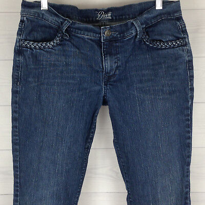 Old Navy The Diva French Braid Women's Sz 10 Short Slim Stretch Blue Denim Jeans