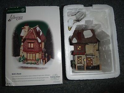 Dept 56 Dickens Village  BELLE'S HOUSE 58512 CHRISTMAS CAROL