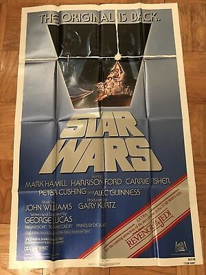 STAR WARS Re-Release 1982 Poster One Sheet with Revenge of the Jedi Teaser Logo