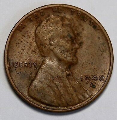 US 1940 S  Lincoln Cent / Penny Coin Mint Error Double Die Date & MM RARE