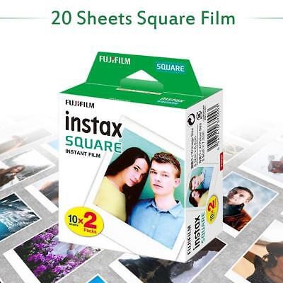 20 Sheets Square Film White Edge Photo Paper For Fujifilm Instax SQ10 SQ6 SP-3