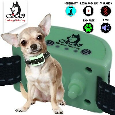 Bark Collar for Small Dogs using Sound (Beep) and Painless Vibration
