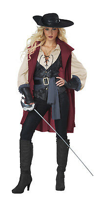 Lady Musketeer Renaissance Medieval Adult Women Costume