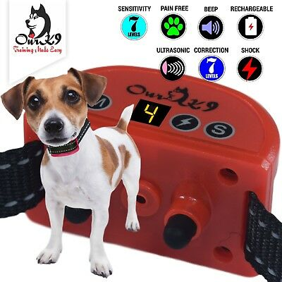 Shock Collar for Small Dogs. Sound, Ultrasonic &  Adjustable Shock