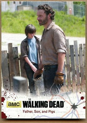 Father, Son & Pigs #02 The Walking Dead Season 4 Pt 1 Cryptozoic 2016 Card C1695