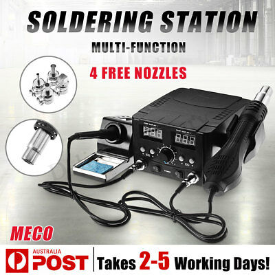 750W LED Digital Hot Air Heater Soldering Iron Station Desoldering Welding Safe