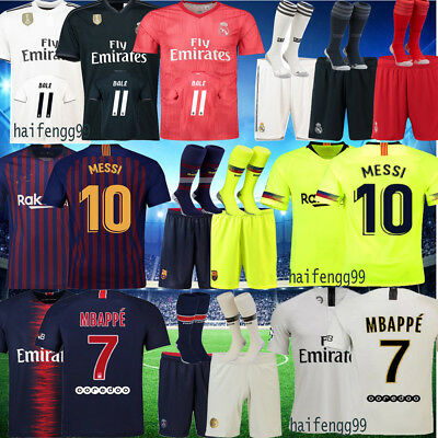 Kids Football Club Race Team Suit 18/19 Home Away Third Kit Summer Outfits BALE
