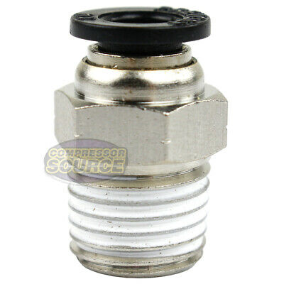 """One 1/4"""" Male NPT x 1/4 OD Tube Female Push In To Lock Connect Fitting Straight"""