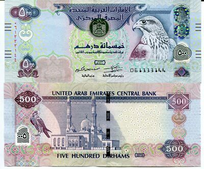 Uae United Arab Emirates 500 Dirhams 2015 P 32 Blind Design  Unc