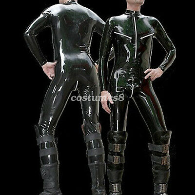 100%  Rubber Latex Catsuit  Gummi  Bodysuit Racing Suit Kostüm Ganzanzug S-XXL