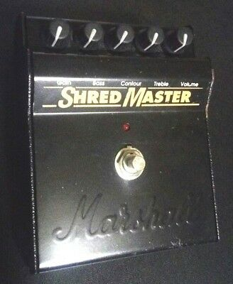 Shred Master Marshall Overdrive Distortion Guitar Effects Pedal Used F/S Japan