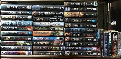 CLIVE CUSSLER: job lot collection of 37 adult fiction books