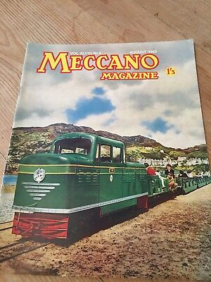 Meccano Magazine August 1963 - Fairbourne Railway Cover-Colour Dinky Toy Ads