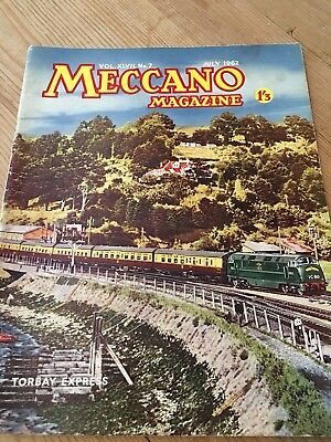 Meccano Magazine July 1962 - Torbay Express Cover -Colour Dinky Toy Ads