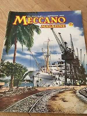 Meccano Magazine Sept 1962 - Mombasa Island Harbour Cover -Colour Dinky Toy Ads