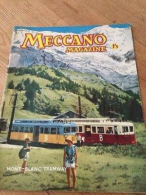 Meccano Magazine October 1962 - Mont Blanc Tramway Cover -Colour Dinky Toy Ads