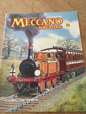 Meccano Magazine Nov 1962 - Bluebell Line Terrier  Cover -Colour Dinky Toy Ads