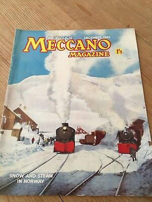 Meccano Magazine Dec 1962-Snow Ploughs In Norway Cover - Colour Dinky Toy Ads