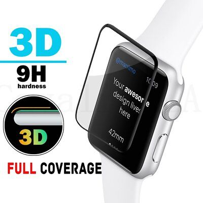 FULL COVER Tempered Glass Screen Protector Curved For Apple Watch 38/42/40/44mm