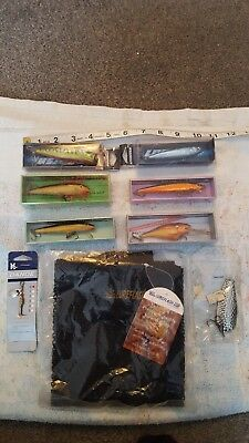 coarse fishing tackle job lot of lures and spinners. (Look unused).