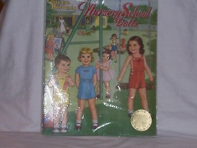 Vtg. Paper Doll Book Queen Holder's Nursery School Dolls NIP