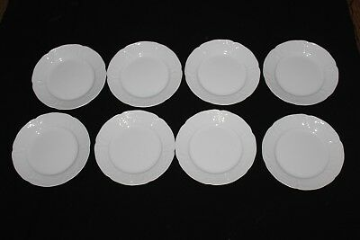"Eight Rosenthal Sanssouci  Classic Rose Ivory Porcelain 6.25"" Side Plates"