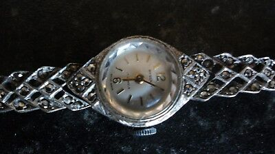 Ladies Regency Silver  (925) And Marcasite Watch