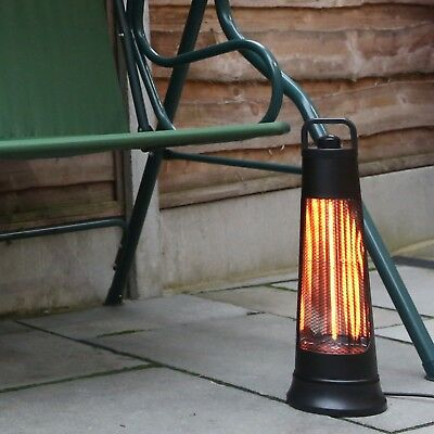 NETTA 600W Electric Patio Heater Carbon Fibre Garden Outdoor Oscillating