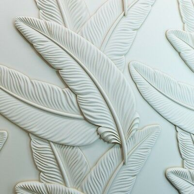 *FEATHER* 3D Decorative Wall Stone Panels. Form Plastic mould for Plaster Gypsum