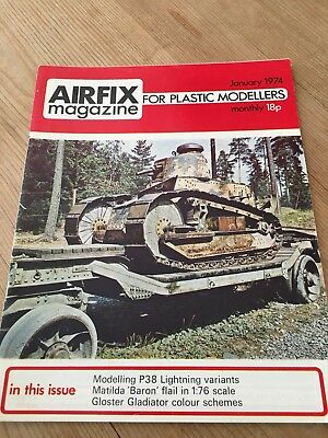 Airfix Magazine Jan 1974 - Finnish Army Renault Tank  Cover