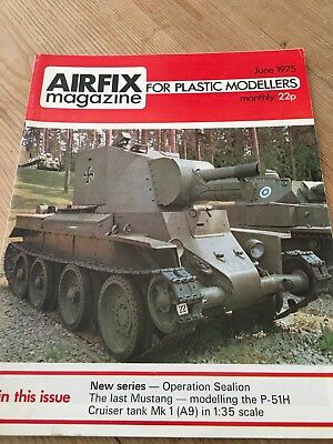 Airfix Magazine June 1975 - Finnish Army  Tank  Cover
