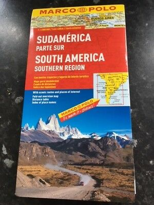 Marco Polo South America Southern Region Map: NEW