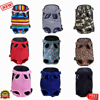 Pet Carrier Backpack Adjustable Puppy Dog Cat Carrier Travel Bag Legs Out Sling