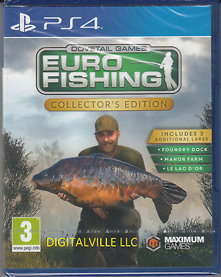 Euro Fishing Collector's Edition PS4 Sony PlayStation 4 Brand New Factory Sealed
