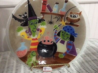 """Peggy Karr Witch's Brew Bowl 11"""" NEW retired"""