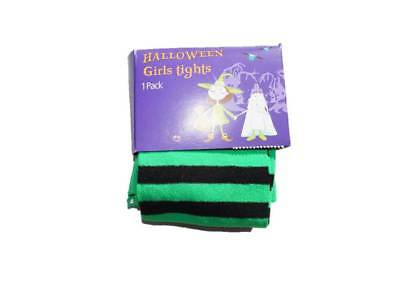 Girl's Ex Store Halloween Tights Black and Green Stripes