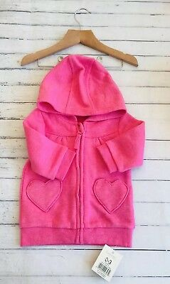 Baby Girls Clothes 0-3 Months - Cute Pink  Jacket Hoodie - New