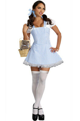 Brand New Blue Gingham Dress Dorothy Wizard of Oz Adult Halloween Costume
