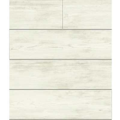 York Wallcoverings MH1559 56'sq. Shiplap by Joanna Gaines Pre-Pasted Wallpaper