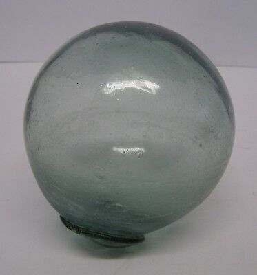 """Antique Vintage Blown Glass Fishing Float Buoy 15"""" circumference"""