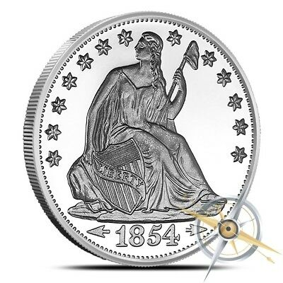 1 Oz .999 Fine Silver Round - Highland Mint (HM) - Seated Liberty Design - New