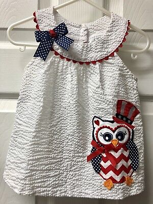 Rare Editions 18M Sleeveless Patriotic Owl Tunic Top