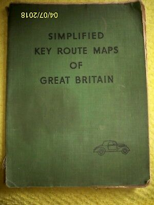 Simplified Key Route Maps Of Great Britain. 1950's. W. & A.k. Johnston Ltd.