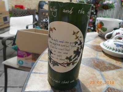 Portmeirion Holly And Ivy Candle In Cardboard Tube