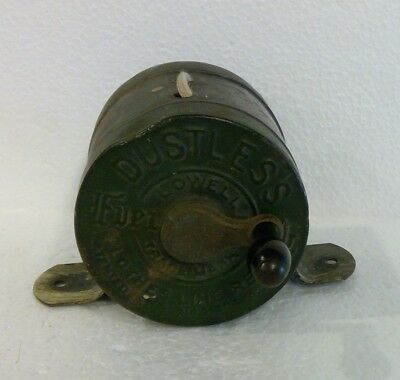 Vintage Antique Dustless Lowell Clothes Line Reel with String - Still Works