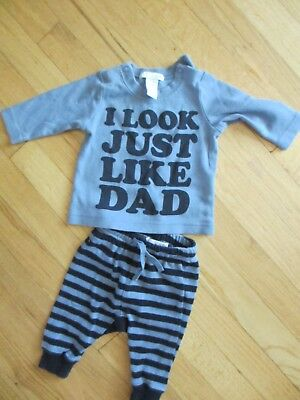 baby boy outfit, 2-4 months, H&M, blue, long-sleeved, ADORABLE!