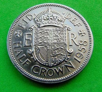 A  PROOFLIKE  UNC  * 1958 *  HALFCROWN  ....from  LUCIDO_8  COINS